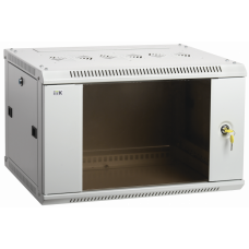 Шкаф LINEA W 6U 600x600 мм дверь стекло, RAL7035 | LWR3-06U66-GF | ITK