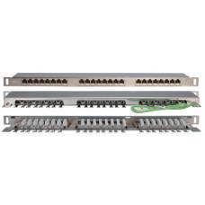 Патч-панель PPHD-19-24-8P8C-C6-SH-110D высокой плотности 19