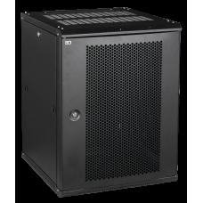 Шкаф LINEA W 15U 600x600 мм дверь перфорированная, RAL9005 | LWR5-15U66-PF | ITK