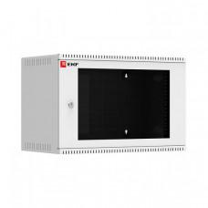 Шкаф телекоммуникационный настенный 6U (600х350) дверь стекло, Astra A серия EKF Basic | ITB6G350 | EKF