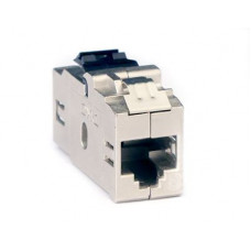 Модуль Keystone RJ45 CAT6 проходной экранированный, серебристый | RNK6FESL | DKC