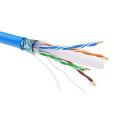 Информационный кабель экранированый F/UTP 4х2 CAT6, PVC, синий | RN6FUPV3BL | DKC