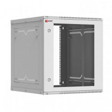 Шкаф телекоммуникационный настенный разборный 12U (600х650) дверь стекло, Astra A серия EKF Basic | ITB12G650D | EKF