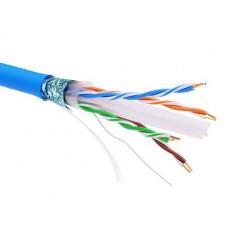 Информационный кабель экранированый F/UTP 4х2 CAT6A, PVC, синий | RN6AFUPV5BL | DKC