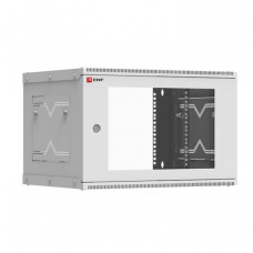 Шкаф телекоммуникационный настенный разборный 6U (600х450) дверь стекло, Astra A серия EKF Basic | ITB6G450D | EKF