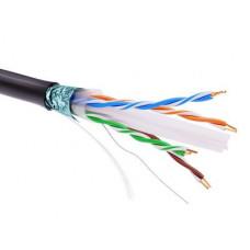 Информационный кабель экранированый F/UTP 4х2 CAT6, PE, чёрный | RN6FUPE3BK | DKC