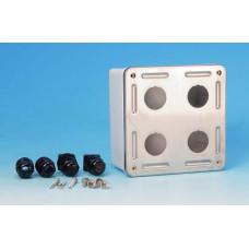 Коробка настенного монтажа SBB-IE-4-SL для 4-х промышленных модулей, IP67, нержавеющая сталь | 46047 | Hyperline