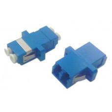 Адаптер проходной оптический FA-P11Z-DLC/DLC-N/WH-BL LC-LC, SM, duplex, корпус пластиковый, синий, белые колпачки | 243944 | Hyperline