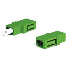 Адаптер проходной оптический FA-P00Z-LC/LC-N/WH-GN LC/APC-LC/APC, SM, simplex, корпус пластиковый, зеленый, белые колпачки | 242813 | Hyperline