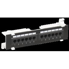 Настенная патч-панель кат.6 UTP, 12 портов (IDC Dual) | PP12-C6U-D05 | ITK