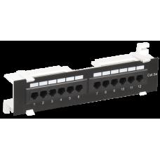 Настенная патч-панель кат.5Е UTP, 12 портов (IDC Dual) | PP12-C5EU-D05 | ITK
