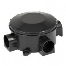 Коробка распаячная КМР-040-040б трехрожковая черная (70х35) EKF PROxima   plc-kmr-040-040b   EKF