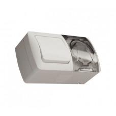 Блок выключатель 1 кл.+розетка с/з c крышкой IP54 EVA EL-BI | 554-011500-920 | ABB