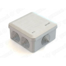 Коробка расп. для о/п 100х100х50 6 вводов IP 55 | GE41255 | GREENEL