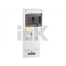 Панель для установки счетчика ПУ1/2-7 1-фазн. с боксом для автоматов модульных серий (7мод.) с прозрачной крышкой (149х420х30 мм) | MPP10-1 | IEK