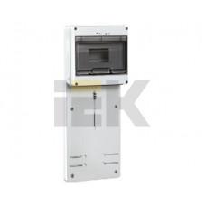 Панель для установки счетчика ПУ3/2-8 3-фазн. с боксом для автоматов модульных серий (8мод.) ( 200x465x64мм) | MPP10-3 | IEK