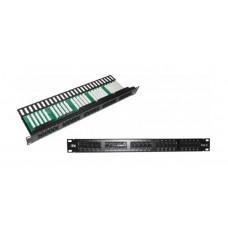 Патч-панель 1U телефонная кат.3 50 портов (IDC Krone) | PP50-1UC3U-K05 | ITK