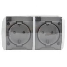 Блок розетка с/з c крышкой+розетка с/з c крышкой IP54 EVA EL-BI | 554-011500-938 | ABB