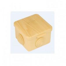 Коробка распаячная КМР-030-036 пылевлагозащитная, 4 мембранных ввода (65х65х45) светлое дерево EKF PROxima   plc-kmr2-030-036-s   EKF
