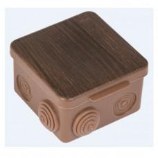 Коробка распаячная КМР-030-031 с крышкой (85х85х50) 7 мембранных вводов тёмное дерево IP54 EKF PROxima   plc-kmr-030-031-t   EKF