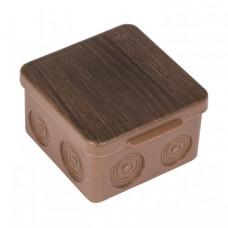 Коробка распаячная КМР-030-034 пылевлагозащищенная без мембранных вводов (105х105х50) тёмное дерево EKF PROxima   plc-kmr-030-034-t   EKF