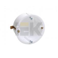Коробка установочная 65х40 с саморезами, металлические лапки (для полых стен)   UKG10-065-040-000-M   IEK