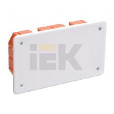 Коробка распределительная С/У 172х96x45 КМ41026 пластиковые лапки, с крышкой (для полых стен) | UKG11-172-096-045-P | IEK