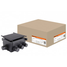 Коробка распаячная СП 118х76х60мм, 8 вводов, черная, для заливки в бетон, IP44   SQ1402-9501   TDM