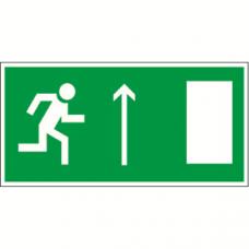 Пиктограмма (Пластина) Напраправление к эвакуационному выходу прямо (прав) BL-3015A.E11 для ADAMANT, CUBE, POLET | a12762 | Белый свет