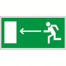 Пиктограмма (Пластина) Напр. к эвакуационному выходу налево BL-3015B.E04 300х150 для FLAG, ICEBERG, IDON, KONTUR, REGATA | a14582 | Белый свет