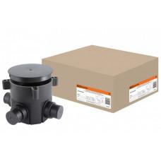 Коробка установочная СП D70х72мм, 4 ввода, черная, для заливки в бетон, IP44   SQ1402-9502   TDM