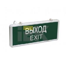 Указатель аварийный светодиодный ССА1001 ВЫХОД-EXIT односторонний 3Вт 1,5ч постоянный накладной/подвесной IP20 | LSSA0-1001-003-K03 | IEK