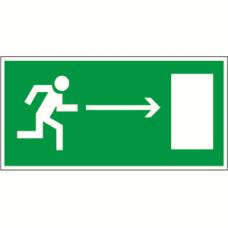 Пиктограмма (Пластина) Напр. к эвакуационному выходу направо BL-3015A.E03 для ADAMANT, CUBE, POLET | a12734 | Белый свет