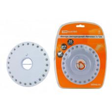 Фонарь кемпинговый 24хLED 4хАА Кемпинг 1х24, подвес, магниты | SQ0350-0016 | TDM