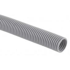 Труба гибкая гофрированная ПВХ 32мм с протяжкой лёгкая GOFR-32-50-PVС (50м) серый | Б0020115 | ЭРА