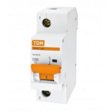 Выключатель автоматический однополюсный ВА47-100 16А C 10кА   SQ0207-0046   TDM