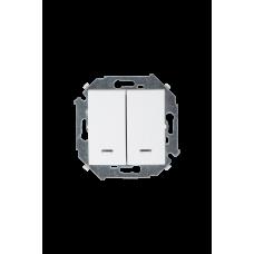 Simon 15 Белый Выключатель 2-кл с подсветкой, 16А 250В, винт. зажим | 1591392-030 | Simon