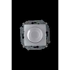 Simon 15 Алюминий Светорегулятор поворотно-нажимной, 500Вт, 230В, винт. зажим | 1591311-033 | Simon