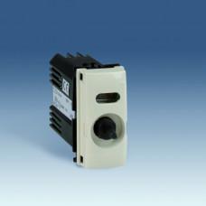 Simon 75 Механизм Светорегулятор проходной поворотно-нажимной универсальный с подсветкой, 40-500Вт 230В, узкий модуль,   75313-69   Simon