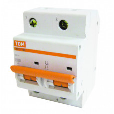 Выключатель автоматический двухполюсный ВА47-100 50А C 10кА   SQ0207-0063   TDM