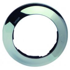Simon 88 Рамка декоративная, 1 пост, круг в круге, S88, хром | 88610-33 | Simon