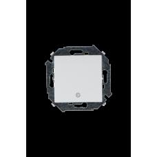 Simon 15 Белый Выключатель 1-кл кнопочный с пиктограммой, 16А 250В, винт. зажим | 1591150-030 | Simon
