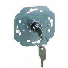 Simon 75 Механизм Кнопочный выключатель системы управления с поворотным механизмом и ключом (вынимается в положении