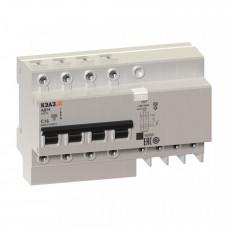 Выключатель автоматический дифференциальный АД14-44C63-АC-УХЛ4 4п 63А C 300мА тип AC   141617   КЭАЗ