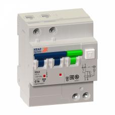 Выключатель автоматический дифференциальный OptiDin VD63-23C10-A-УХЛ4 2п 10А C 100мА тип A | 103460 | КЭАЗ
