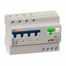 Выключатель автоматический дифференциальный OptiDin VD63-44C63-AS-УХЛ4 (селективный) 4п 63А C 300мА тип A | 250090 | КЭАЗ