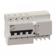 Выключатель автоматический дифференциальный АД14-42C16-АC-УХЛ4 4п 16А C 30мА тип AC   141607   КЭАЗ