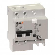 Выключатель автоматический дифференциальный АД12-24C63-АC-УХЛ4 2п 63А C 300мА тип AC   141603   КЭАЗ
