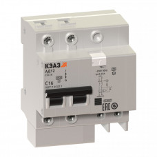 Выключатель автоматический дифференциальный АД12-22C32-АC-УХЛ4 2п 32А C 30мА тип AC   141588   КЭАЗ