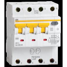 Выключатель автоматический дифференциальный АВДТ 34 3п+N 63А C 300мА тип A   MAD22-6-063-C-300   IEK
